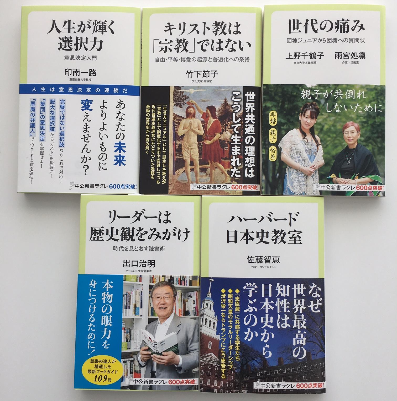 ラクレ10月度 新刊情報